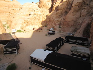Campsite in the desert