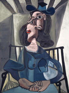 Woman with Hat Seated in an Armchair - Picasso.