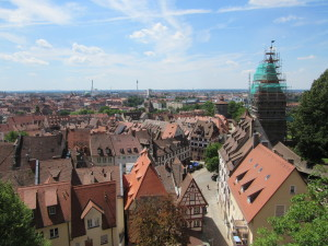 Nuremberg from one of the castle towers.