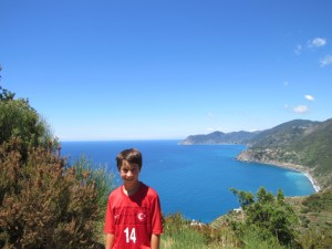 At the top before the steep descent to Manarola.