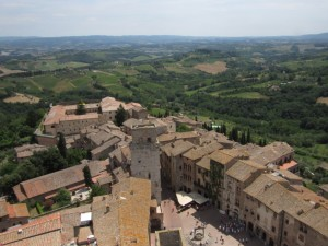 View from a tower in San Gimignano.