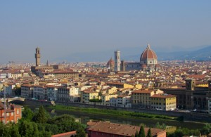 Wonderful view of Florence from Piazza Michelangelo.