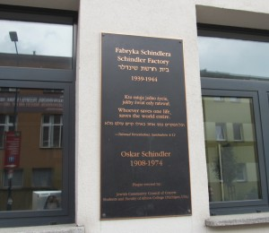 Plaque outside the museum.