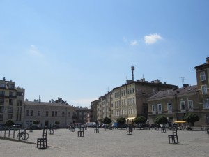 Memorial plaza in the Jewish ghetto.