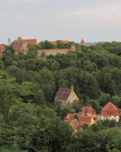 The wall around Rothenburg.