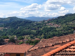 Views of Barga and the surrounding hills.