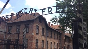 Gate to Auschwitz.