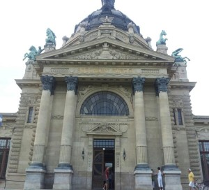 Front entrance to the baths.